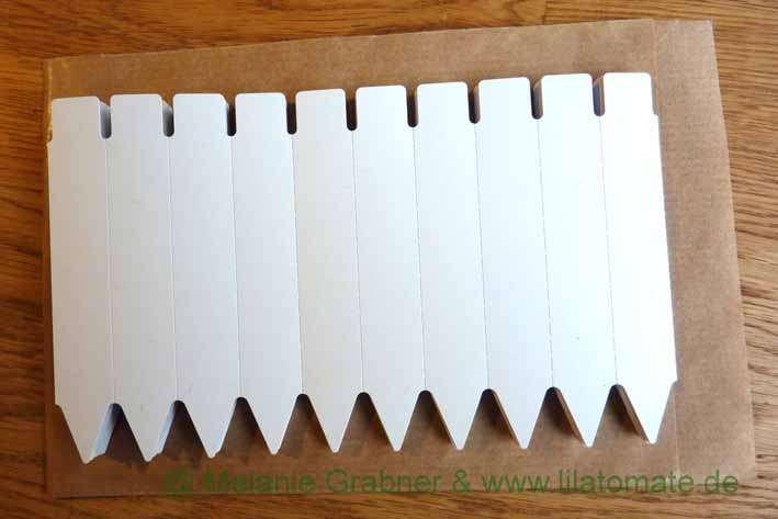 Zubehör: Stecketiketten, 10 cm (100 Stück je Packung)